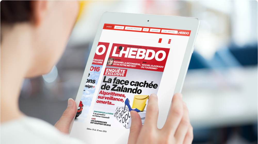 Application ipad L'Hebdo