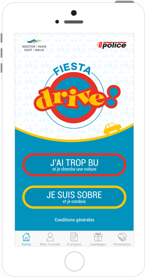 Application co-voiturage Fiesta Drive